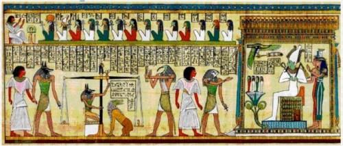 Pour les Egyptiens -  cette oeuvre représente le jugement de la vie après la mort.jpeg
