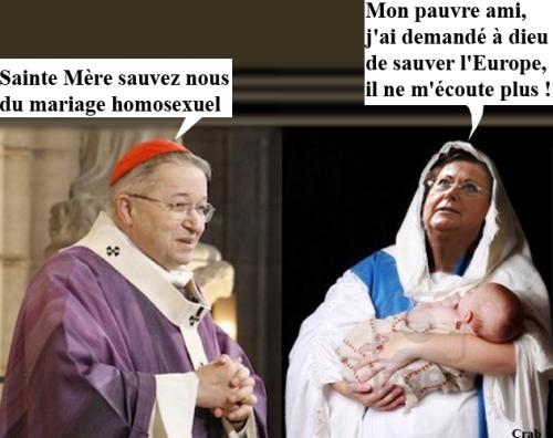 cardinal Philippe Barbarin,christine Boutin