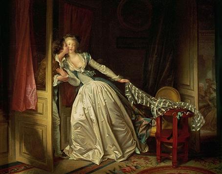 Fragonard - Baiser à la dérobée ou baiser volé  1766.jpg